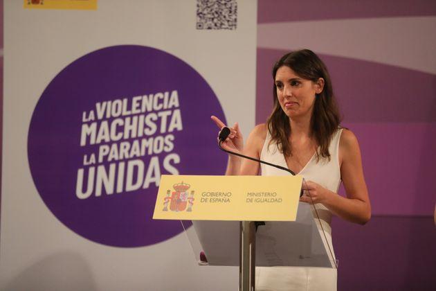 Irene Montero presenta el