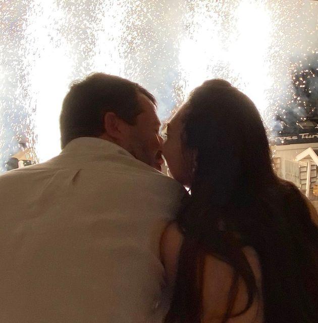 Matteo Salvini e Francesca Verdini alla festa a