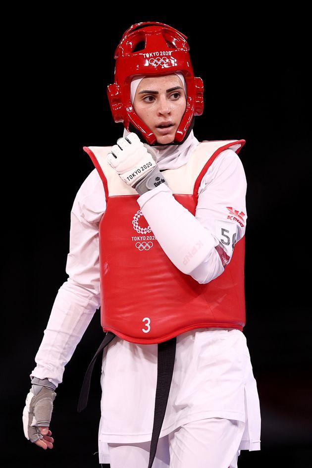 テコンドーのヨルダン代表ジュリアナ・サデク選手、東京オリンピック7月26日の試合にて