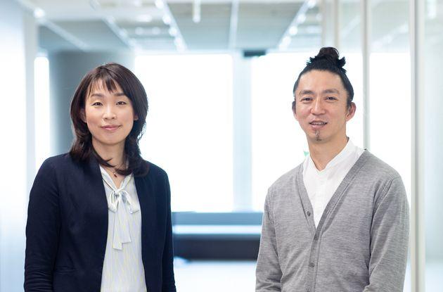 (左)popIn株式会社 取締役 西舘亜希子さん(右)株式会社博報堂 クリエイティブディレクター/コピーライター