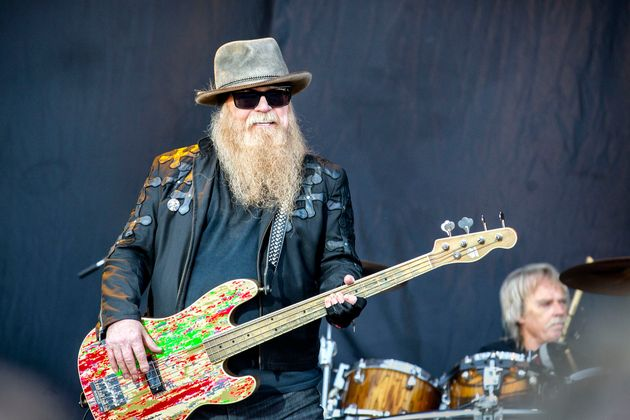 The American rock band ZZ Top performs a live concert during the Swedish music festival Sweden Rock Festival...