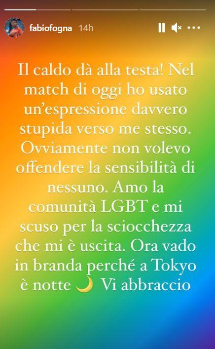 Fabio Fognini e l'autoinsulto omofobo: