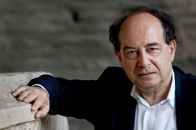 Italian writer Roberto Calasso pictured at Massenzio's Basilica (Photo by Alessandra Benedetti/Corbis...
