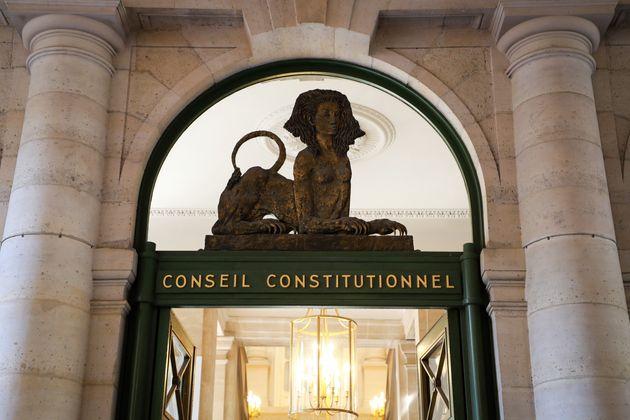L'entrée du Conseil constitutionnel photographié en juin 2020