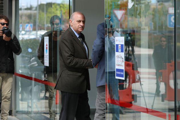 El exministro del Interior Jorge Fernández Díaz el pasado 10 de mayo en el Hospital Puerta de Hierro...