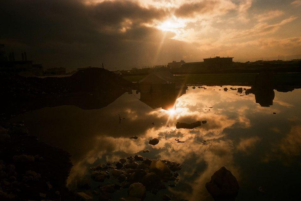 Bellissimo tramonto a fine giornata. Foto scattata da Marah, 12