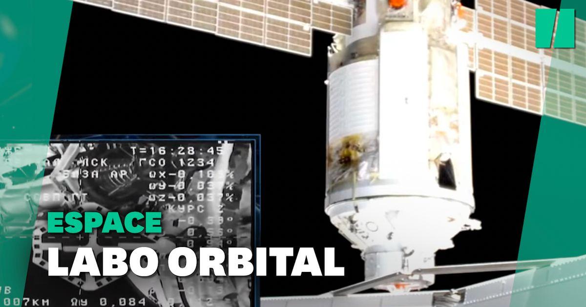 L'ISS où vit Thomas Pesquet a reçu Nauka, son nouveau labo
