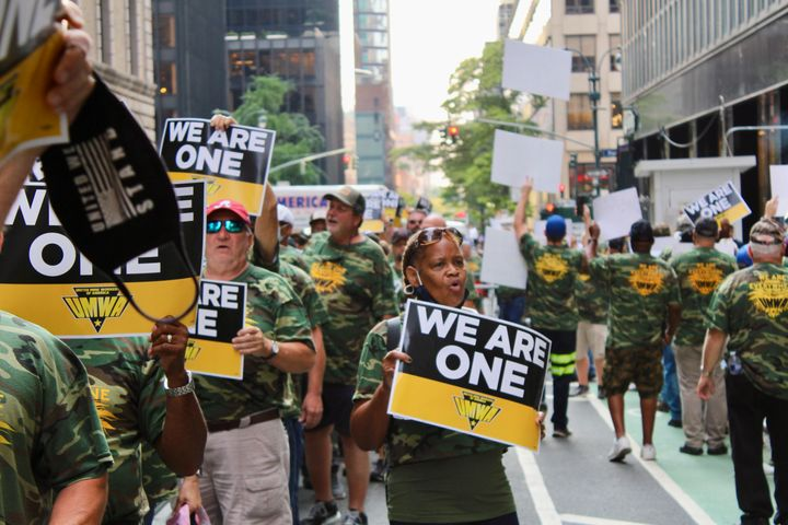 Miners and their supporters marched in Manhattan this week.