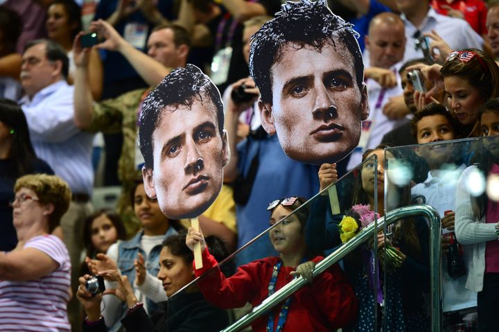 U.S. swimmer and Olympic gold medalist Ryan Lochte probably benefited from fans holding giant placards of his face during the 2012 London Games.