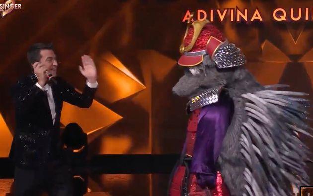 Arturo Valls y Erizo en la final de la segunda temporada de 'Mask