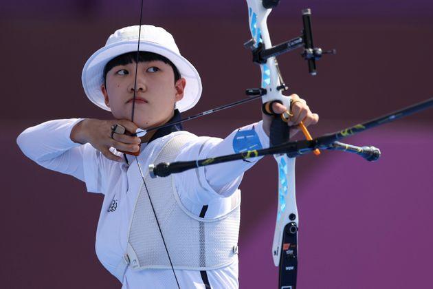 韓国女子アーチェリーのアン・サン選手