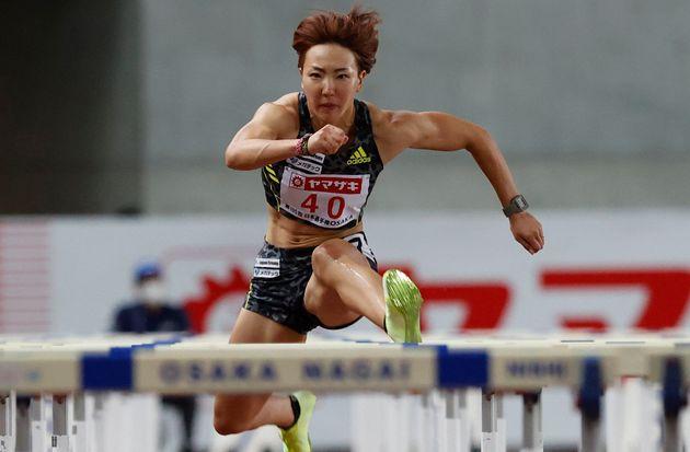 陸上女子100mハードルに出場する寺田明日香選手