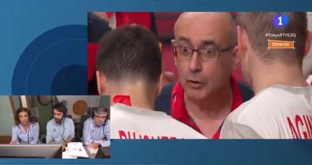 Jordi Ribera, en el partido ante
