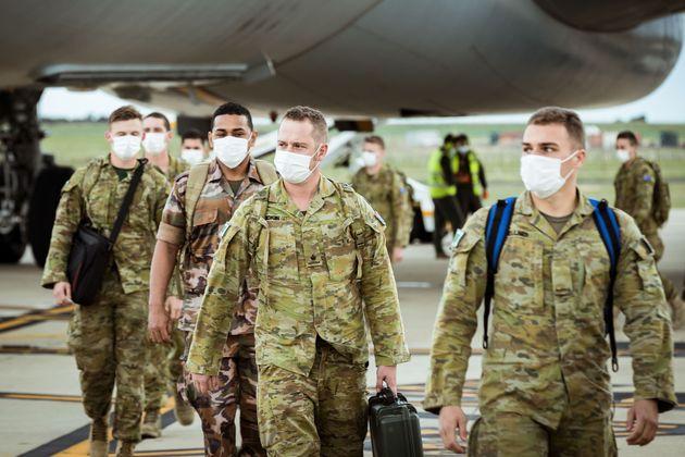 Ο στρατός είχε αναπτυχθεί και κατά το lockdown στην Μελβούρνη
