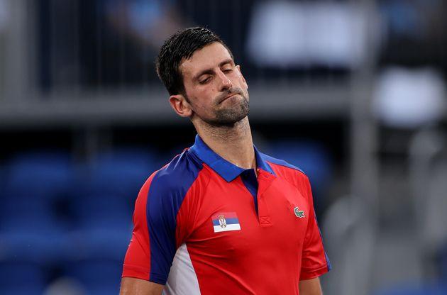 Novak Djokovic, durante su partido contra