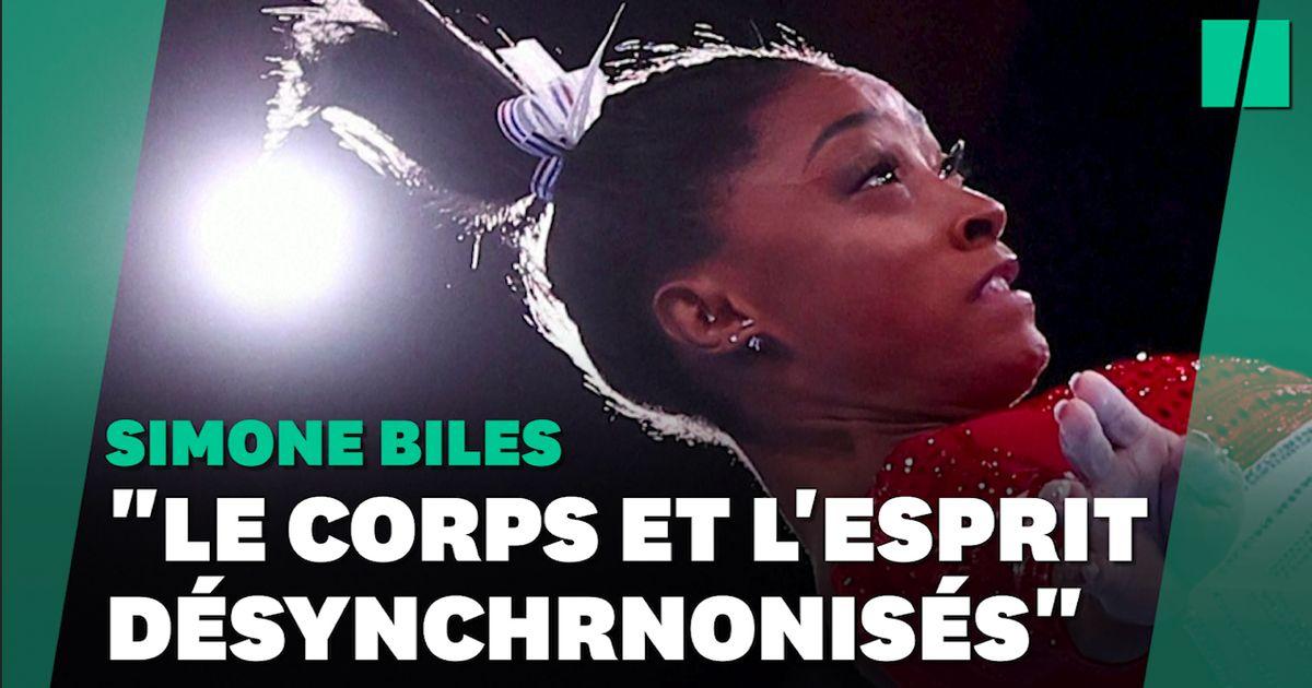 """La vidéo déstabilisante de Simone Biles à l'entraînement aux prises avec ses """"twisties"""""""
