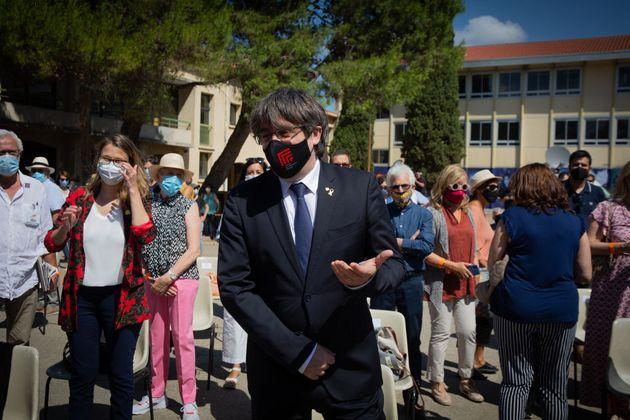El expresidente catalán Carles Puigdemont el pasado 16 de julio en Elna,