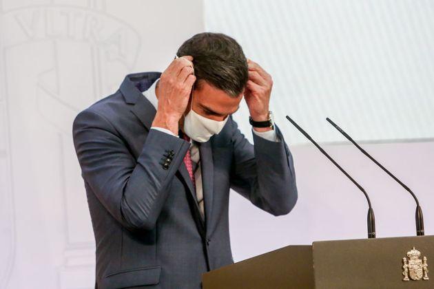 Pedro Sánchez, en su comparecencia de este