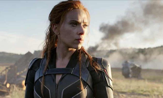 Scarlett in her Black Widow role