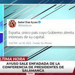 Le ponen a Ignacio Aguado este tuit de Díaz Ayuso delante y pega la gran