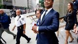 """FILE - In this June 13, 2019 file photo, Cuba Gooding Jr. leaves criminal court in New York. U.S. District Judge Paul Crotty issued a default judgment against Gooding on Thursday, July 29, 2021, saying it appeared the Oscar-winning """"Jerry Maguire"""" star was willfully ignoring the lawsuit and that waiting for him any longer would be unfair to his accuser. Crotty said that under the law, the 53-year-old Gooding's failure to respond and defend himself in the lawsuit constituted an admission of liability. (AP Photo/Frank Franklin II, File)"""