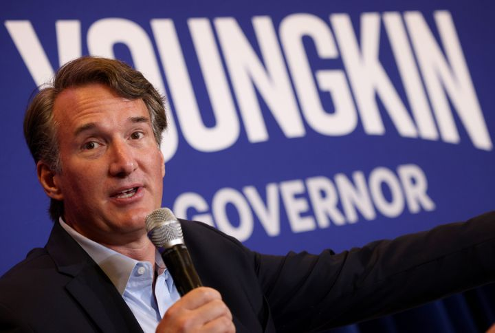 """Glenn Youngkin, the Republican candidate for governor in Virginia, has positioned himself as a moderate outsider, even as he continues to push the idea that his state and others need to do more to bolster the """"integrity"""" of elections in the wake of Donald Trump's defeat."""