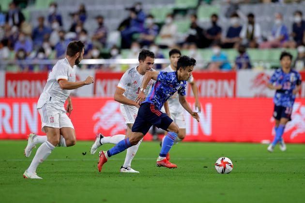 日本とスペインの親善試合(7月17日)