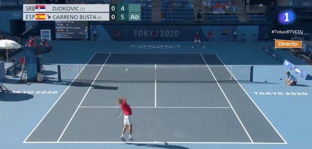 Pablo Carreño contra Novak Djokovic en los Juegos de