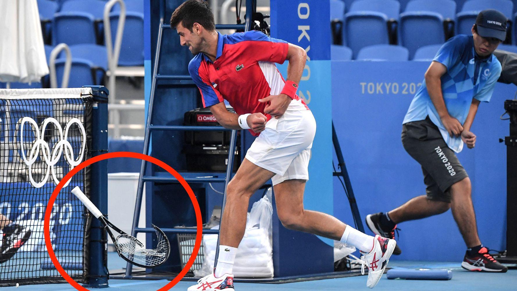 Novak Djokovic's Racket Ends Up Just Like His Golden Slam Dreams, In Absolute Ruins