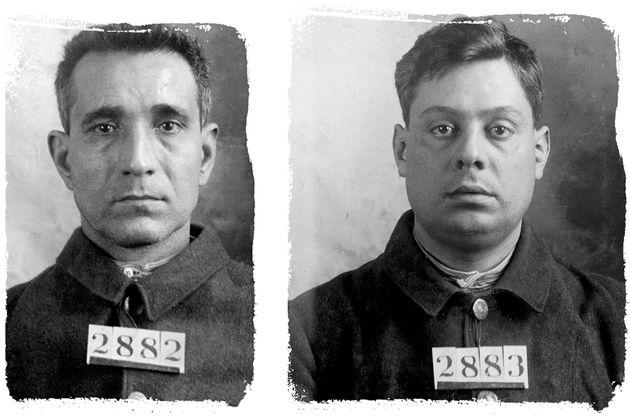 """Le foto segnaletiche di Giuseppe """"Joe"""" Morello – a sinistra – e Ignazio"""