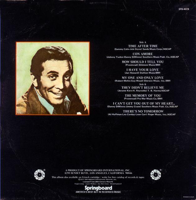 Il retro copertina dell'album di Al Martino. L'ultimo titolo è