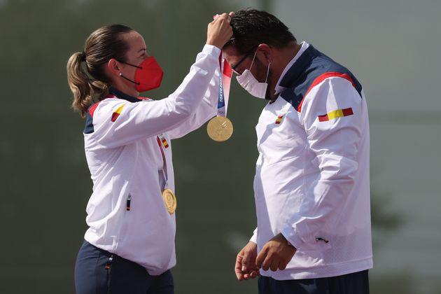 Fátima Gálvez y Alberto Fernández, oro en tiro