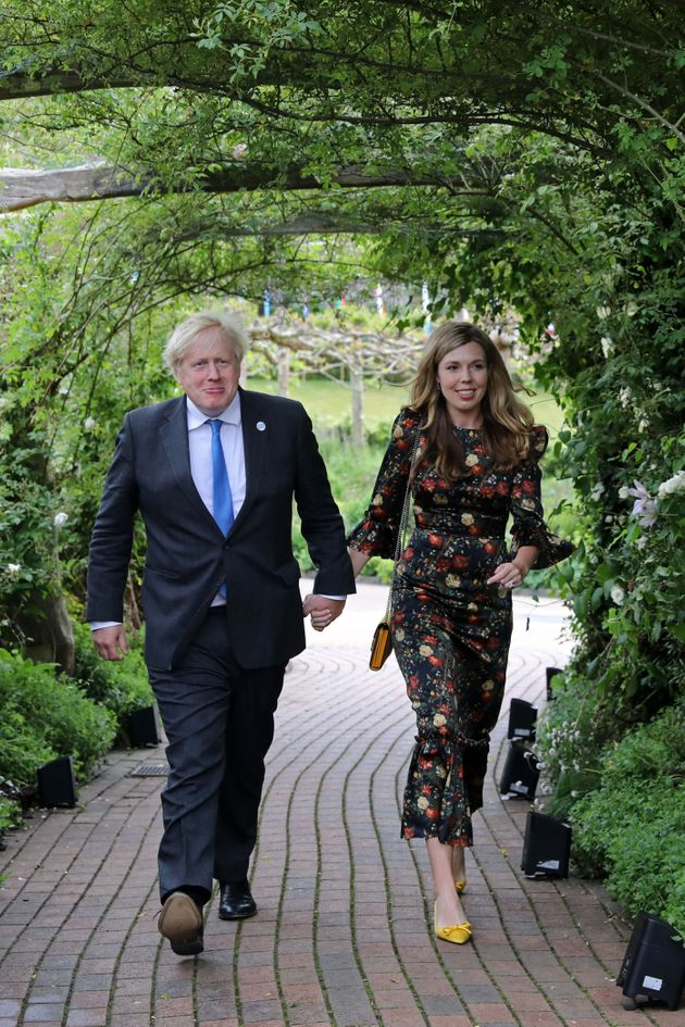 Prime Minister Boris Johnson and Carrie