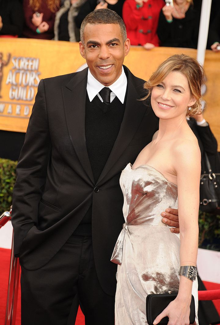 Ellen Pompeo and Chris Ivery in 2008 in Los Angeles.