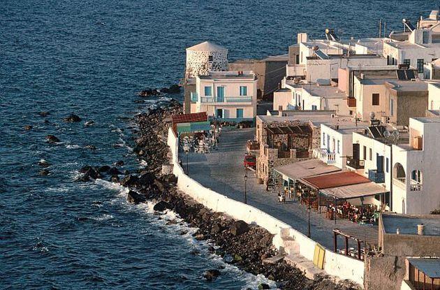 GREECE - CIRCA 1900:  Spots in Mediterranean sea in Nisyros , Greece - Village.  (Photo by Jean-Luc MANAUD/Gamma-Rapho via Getty Images)