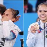 여서정이 도마 결선서 '동메달' 획득한 순간, 아버지 여홍철이 내뱉은 탄성은 온몸에 전율을 선사했다