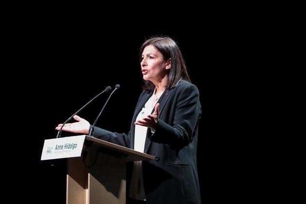 Anne Hidalgo à Paris le 26 février
