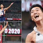 '높이뛰기 한국 신기록' 세우며 거침없이 날아오른 우상혁이 경기 내내 보여준 모습에선 밝은 에너지가
