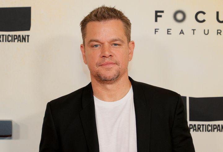 """Matt Damon attends the """"Stillwater"""" premiere in July."""