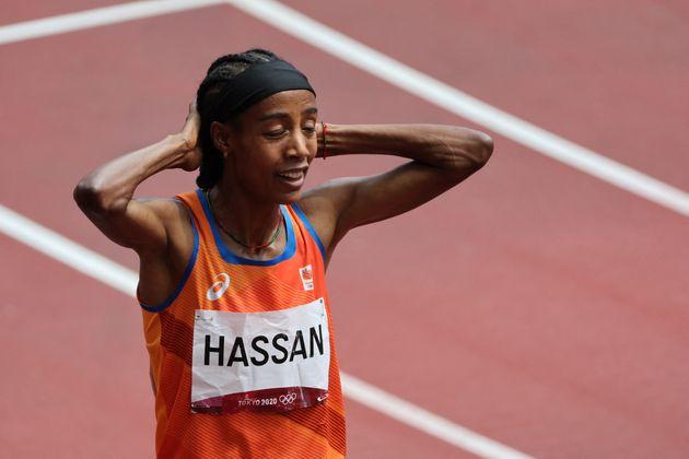 Sifan Hassan, ici après sa victoire dans sa série du 1500 m aux JO à Tokyo, le 2...