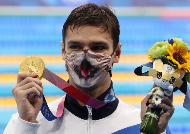 金メダルに輝いたエフゲニー・リロフ選手(2021年7月30日撮影)