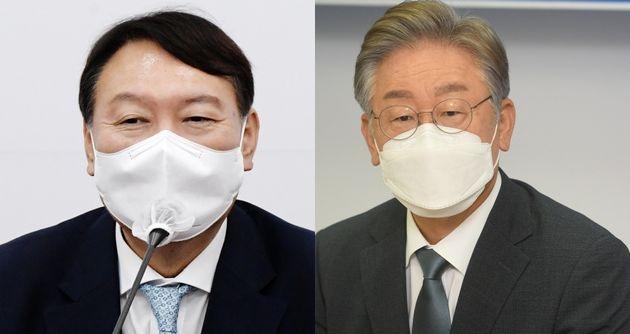 윤석열 전 검찰총장. 이재명