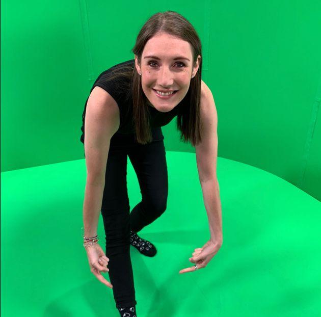 笑顔のアナスタシア・バクシスさん(カナダ『CBC』の東京五輪レポーター)