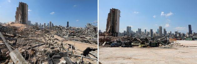 Στιγμιότυπα από την έκρηξη...