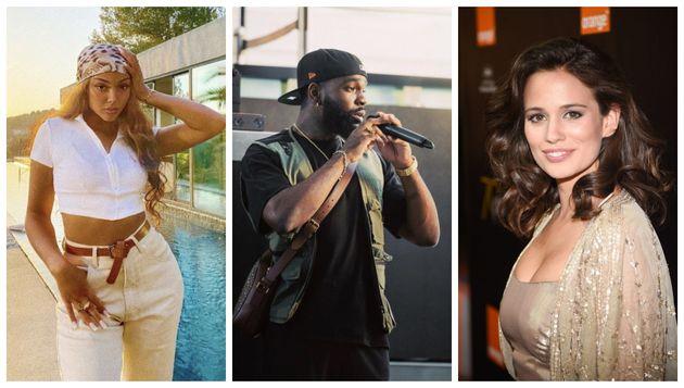 De gauche à droite : La chanteuse Wejdene, Tayc et l'actrice de la série