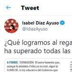 A Ayuso se le vuelve en contra este tuit: Echenique, IU, Rufián... todos le responden lo