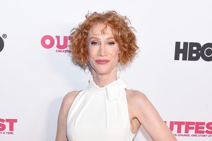 """Kathy Griffin arrives at a screening of her documentary """"Kathy Griffin: A Hell Of A Story"""" in 2019."""