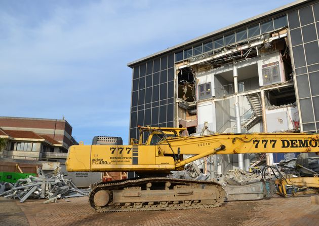 The demolition of the old IMAX building in Bournemouth back in
