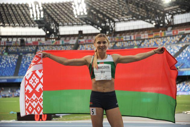 Tokyo Olympic athlete Krystsina Tsimanouskaya of Belarus during the Women's 200m Final at the 2019 Summer...