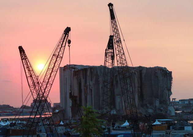 Photo du port de Beyrouth ravagé prise le 29 juillet 2021 par REUTERS/Mohamed